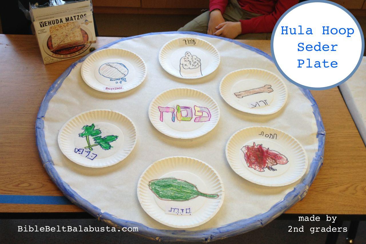 Hula Hoop Seder Plate Big Upcycle For Kids