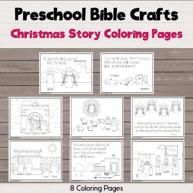 Christmas Story Coloring Pages - Bible Crafts and Activities