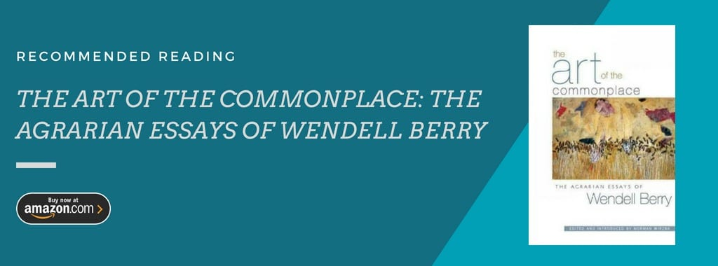 the art of the commonplace, wendell berry