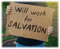 Will work for Salvation sign