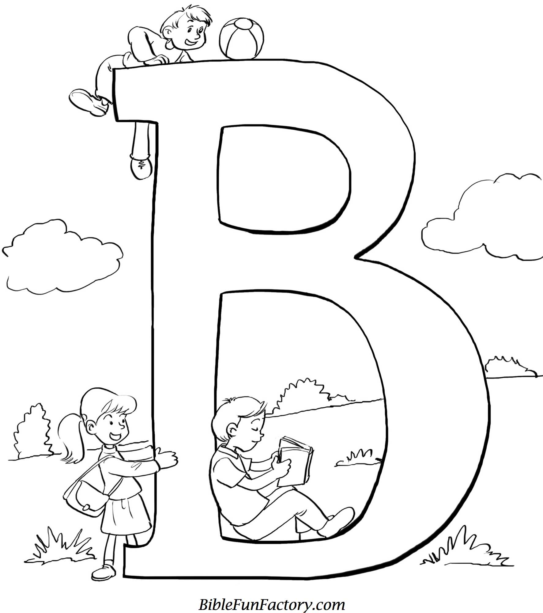 Bible Coloring Sheet B Is For Bible