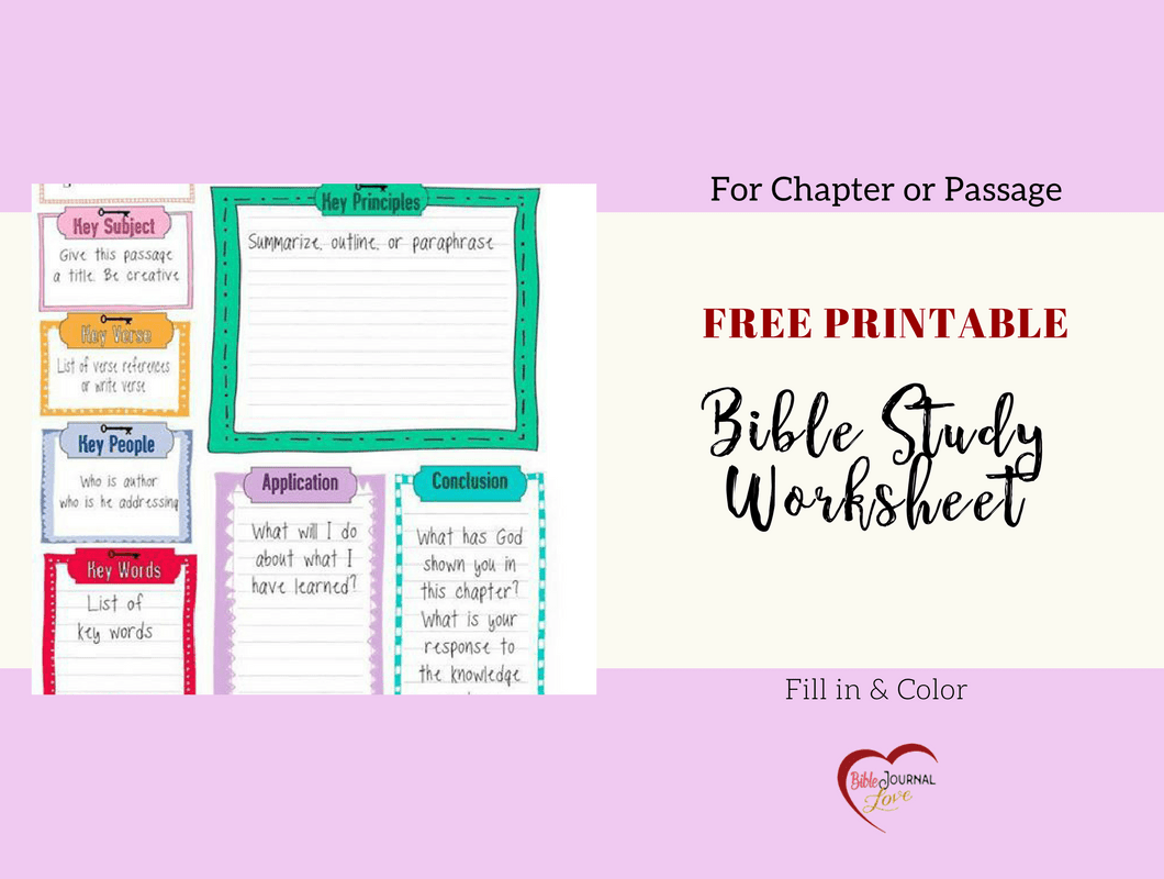 Top Printable Bible Study Guide