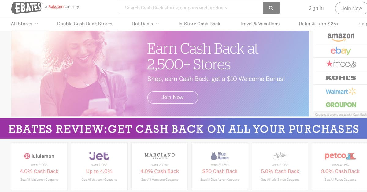 los angeles 4800c 0bc19 Ebates Review 2019  Get Cash Back On All Your Purchases