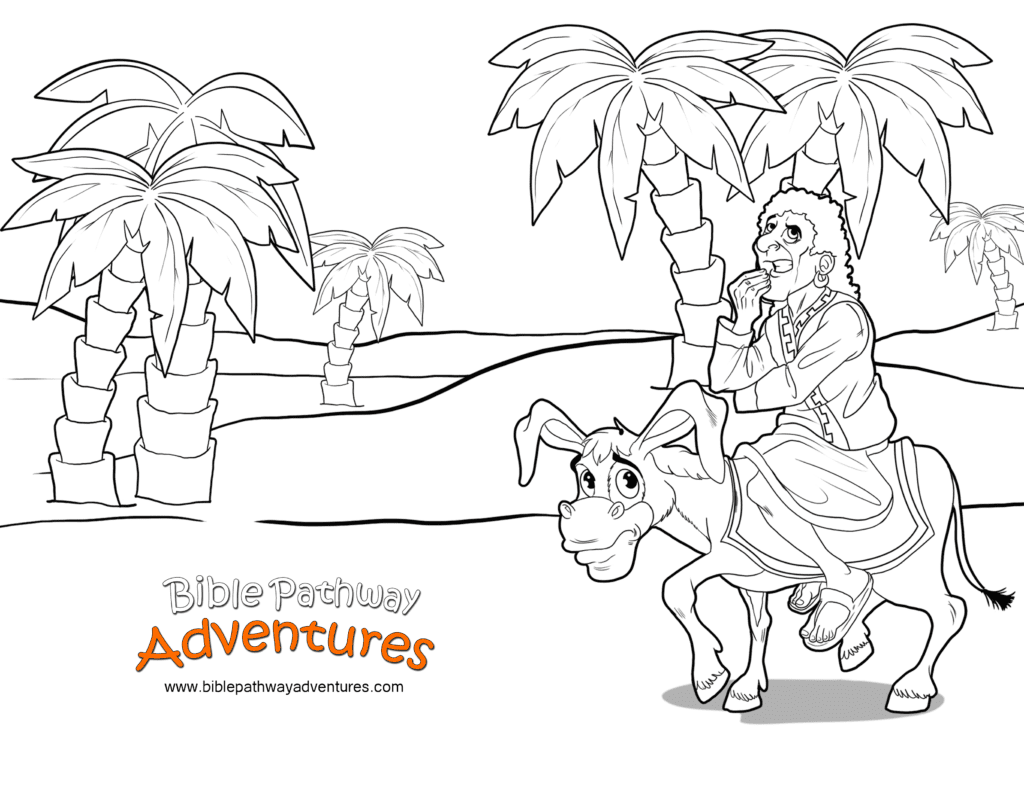 Balaam S Donkey Bible Coloring Page