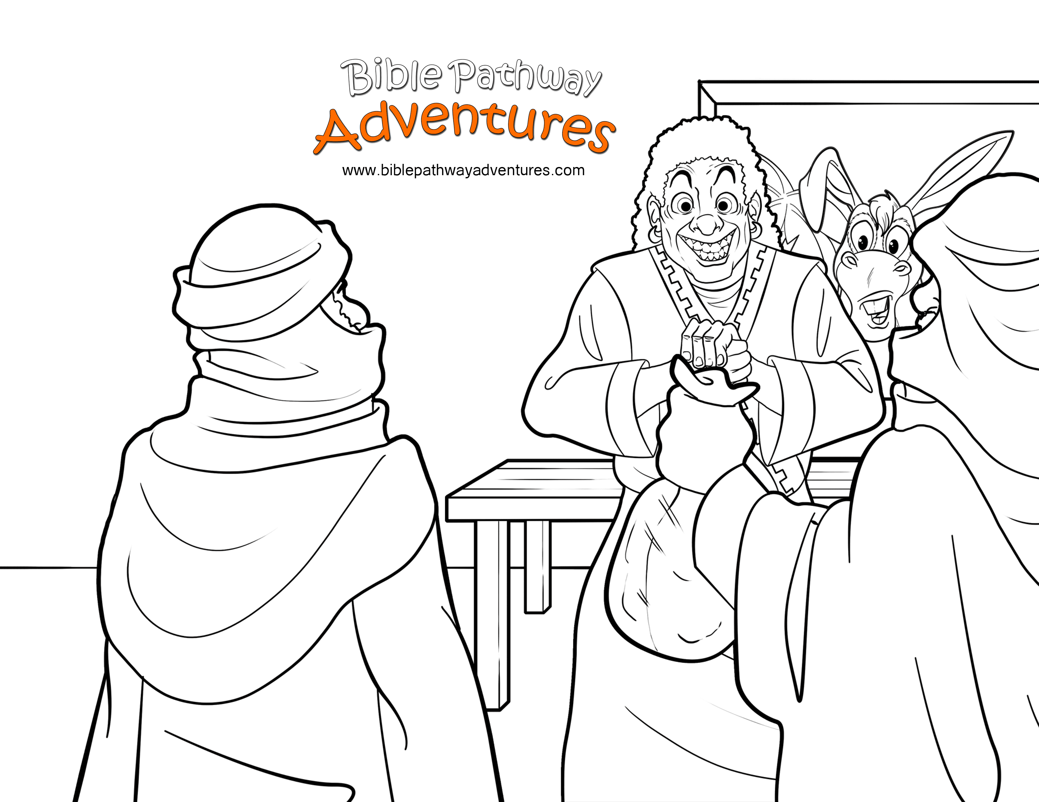 Free Christian Coloring Page Balaam S Donkey