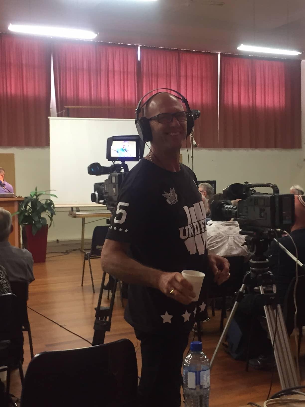 Otaki Teaching Weekend Steve Filming Steve Bible Pathway Adventures