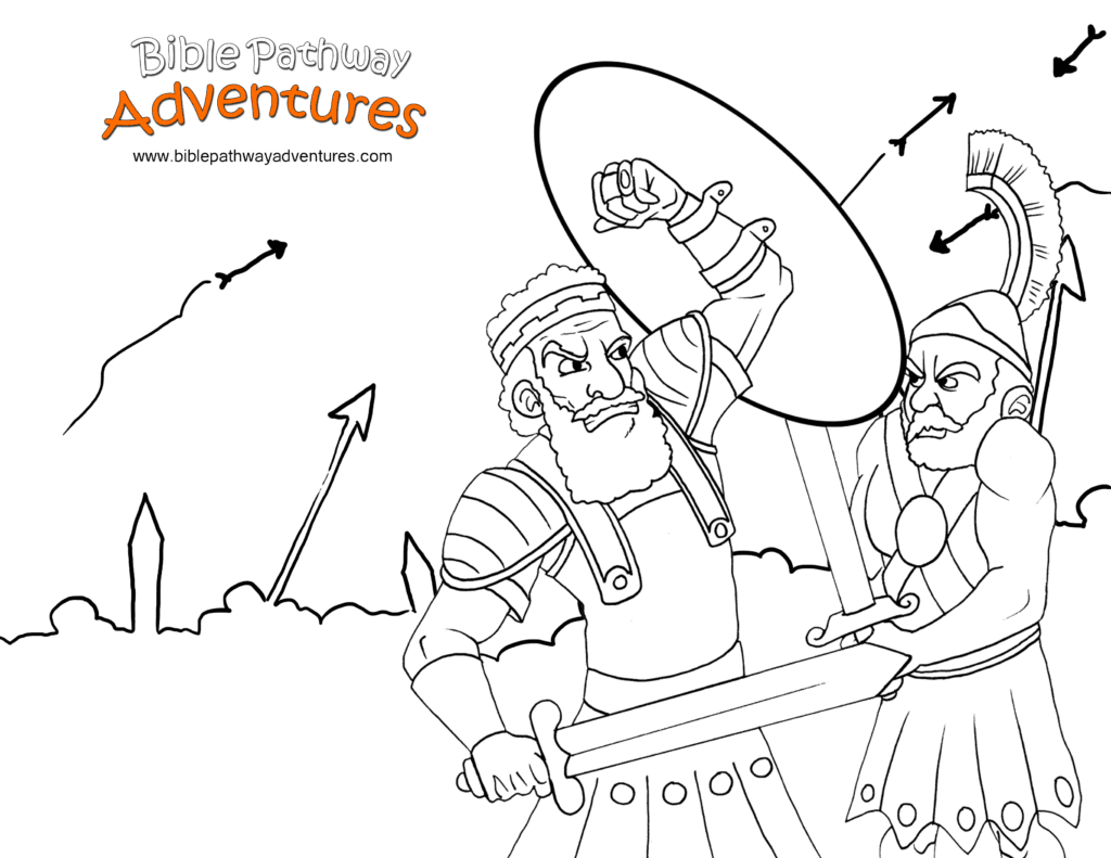 Israelites Fight The Assyrians Bible Coloring Page