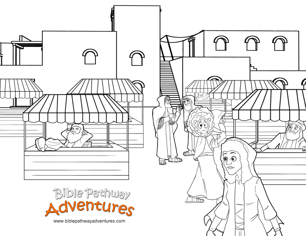 Bible Coloring Page Passover Market