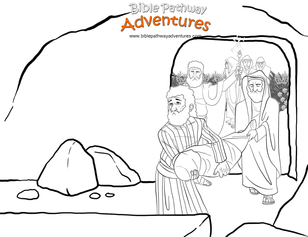 Bible Coloring Page Yeshua Into The Tomb