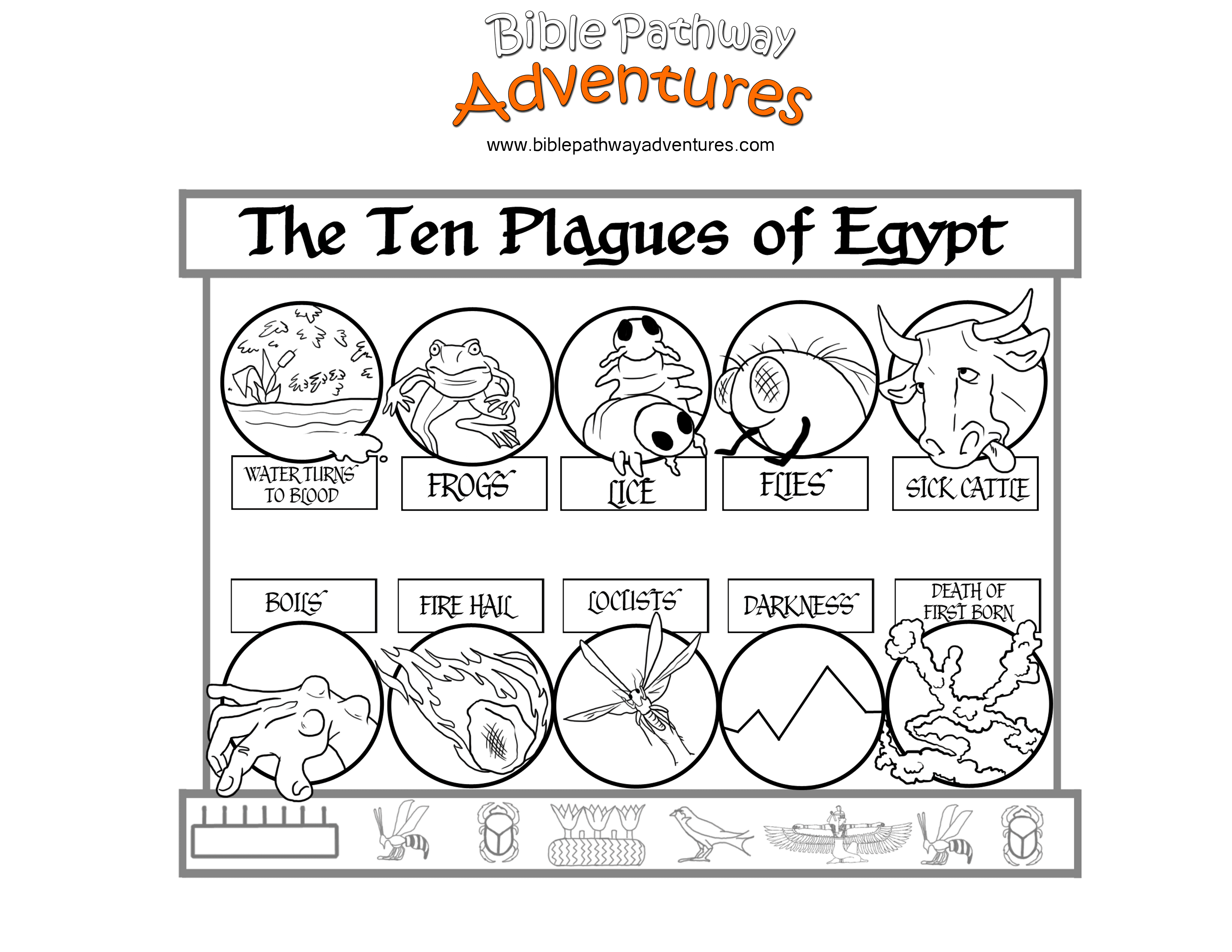 Ten Plagues Of Egypt Bible Pathway Adventures