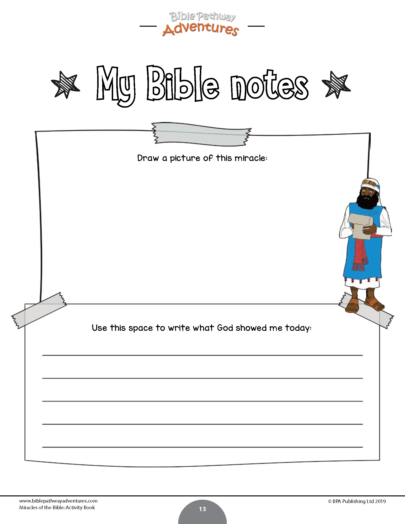 Miracles Of The Bible Activity Book Bible Pathway Adventures