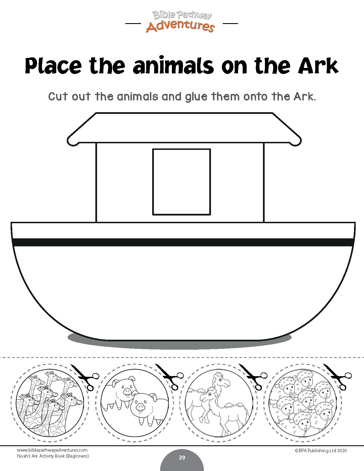 Noah S Ark Activity Book For Beginners Bible Pathway