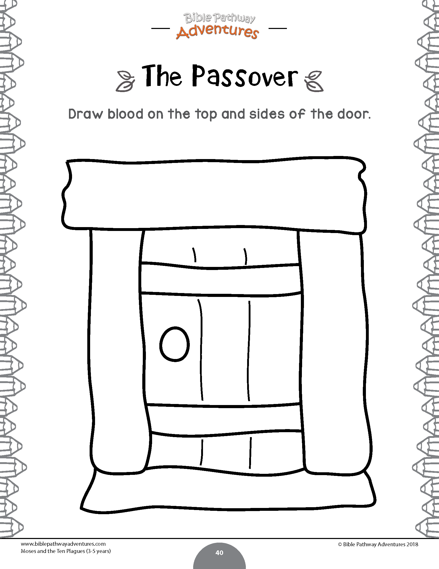 Moses And The Ten Plagues Activity Book Kids Ages 3 5