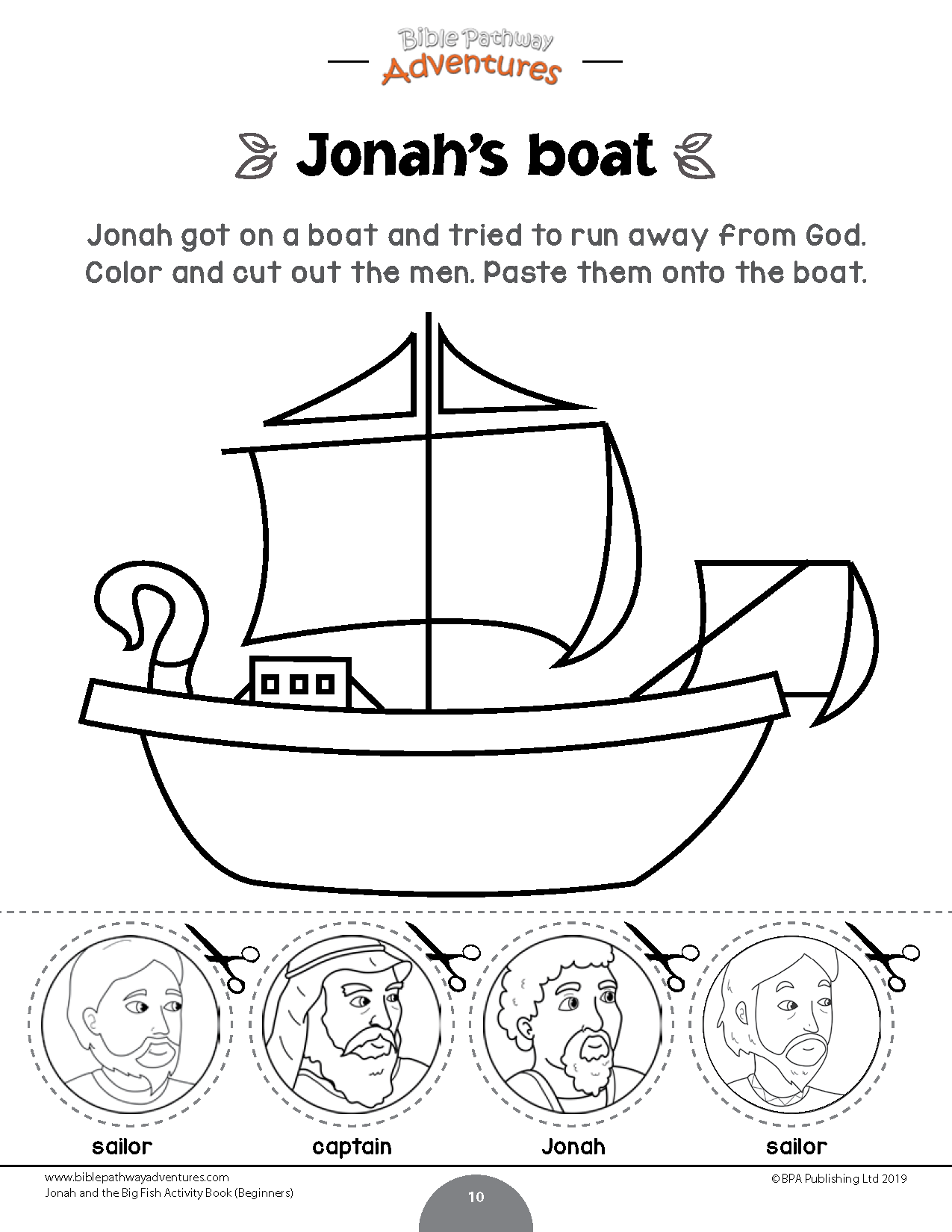 Jonah And The Big Fish Activity Book Beginners Bible