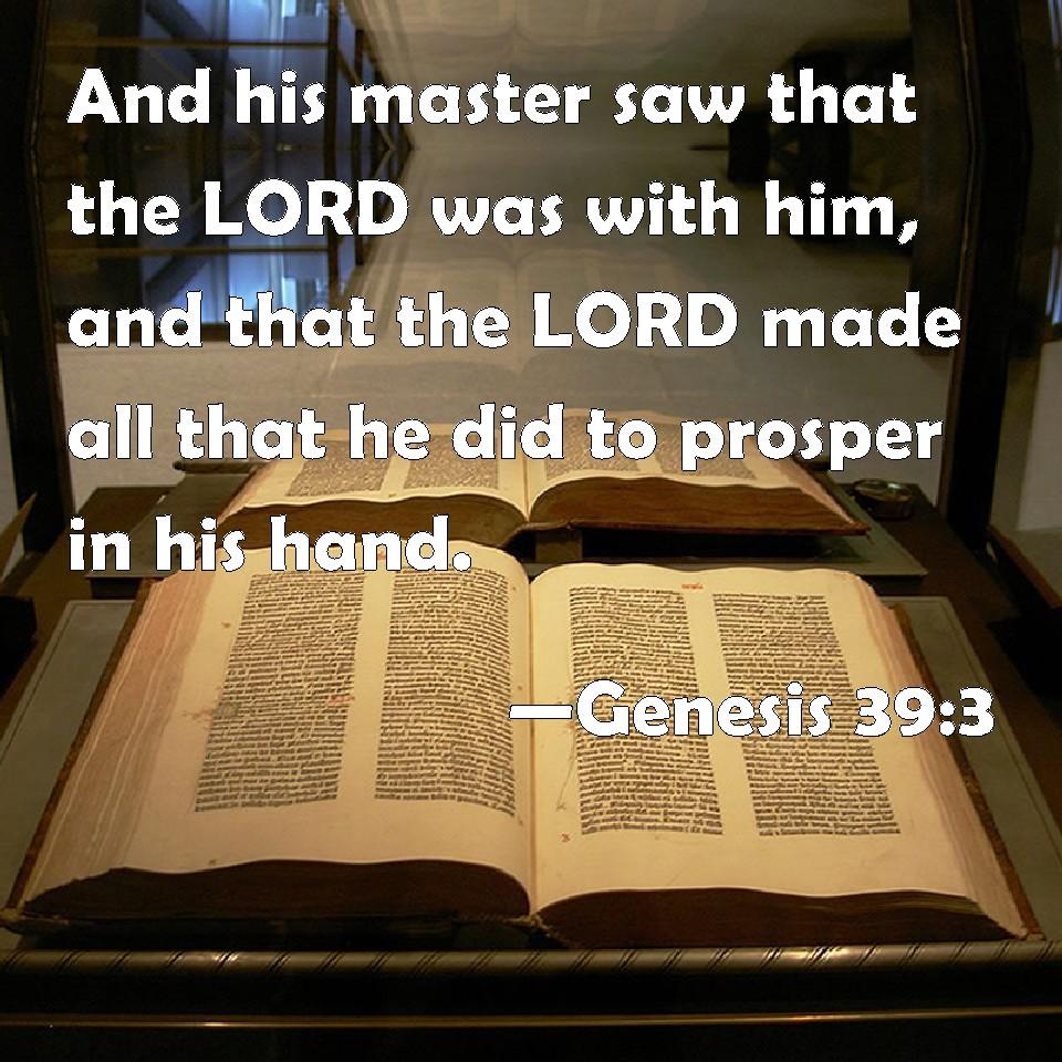 Image result for Genesis 39:3–4