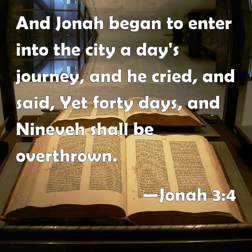 Image result for jonah 3:4