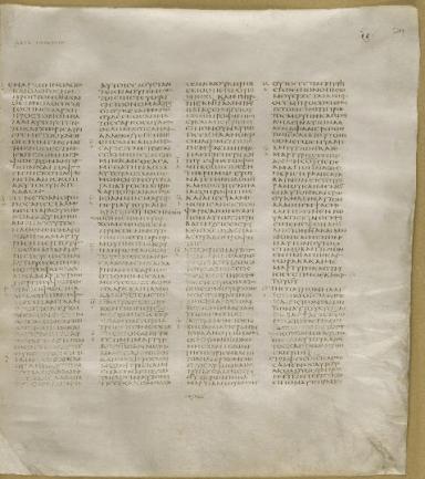 Codex Sinaiticus, John 1:1-38 (© CodexSinaiticus.org)