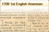 1709 1st English American