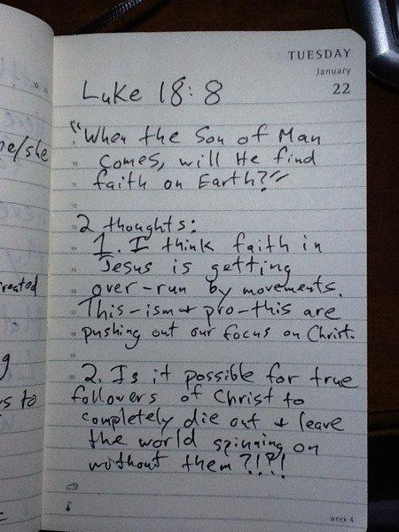 Luke 18:8 notes