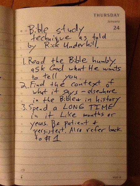 bible study method