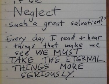 Salvation Neglect