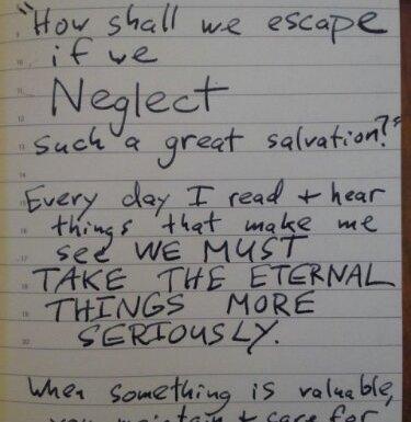 Salvation Neglect