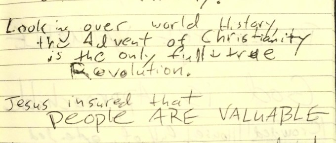 Sermon notes from OneLife West