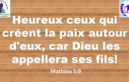 Mathieu 5:9