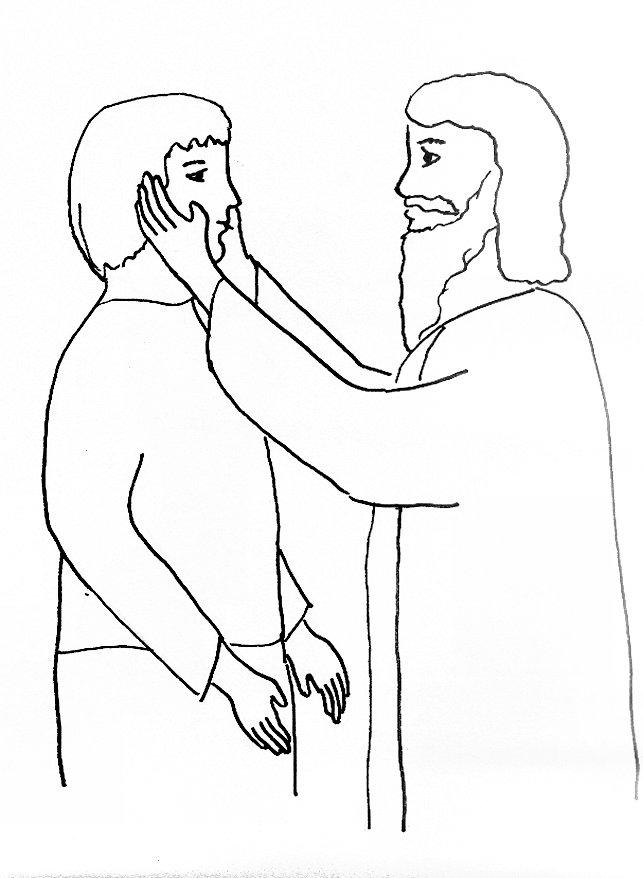 Jesus Heals The Blind Man Coloring Page. jesus heals on pinterest ...