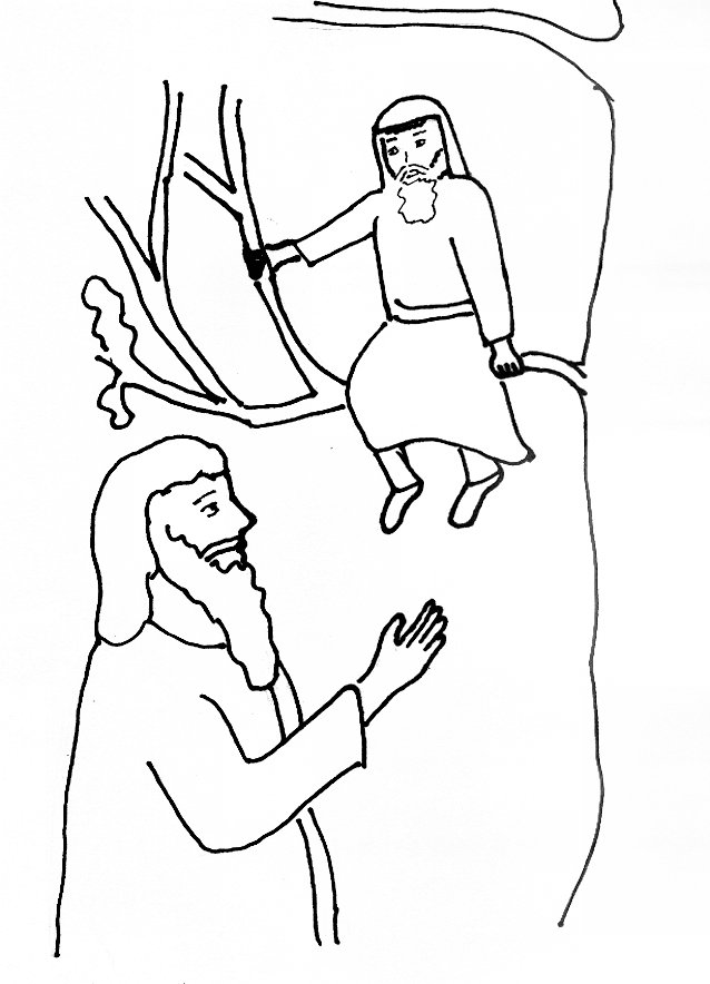 jesus and zacchaeus free for