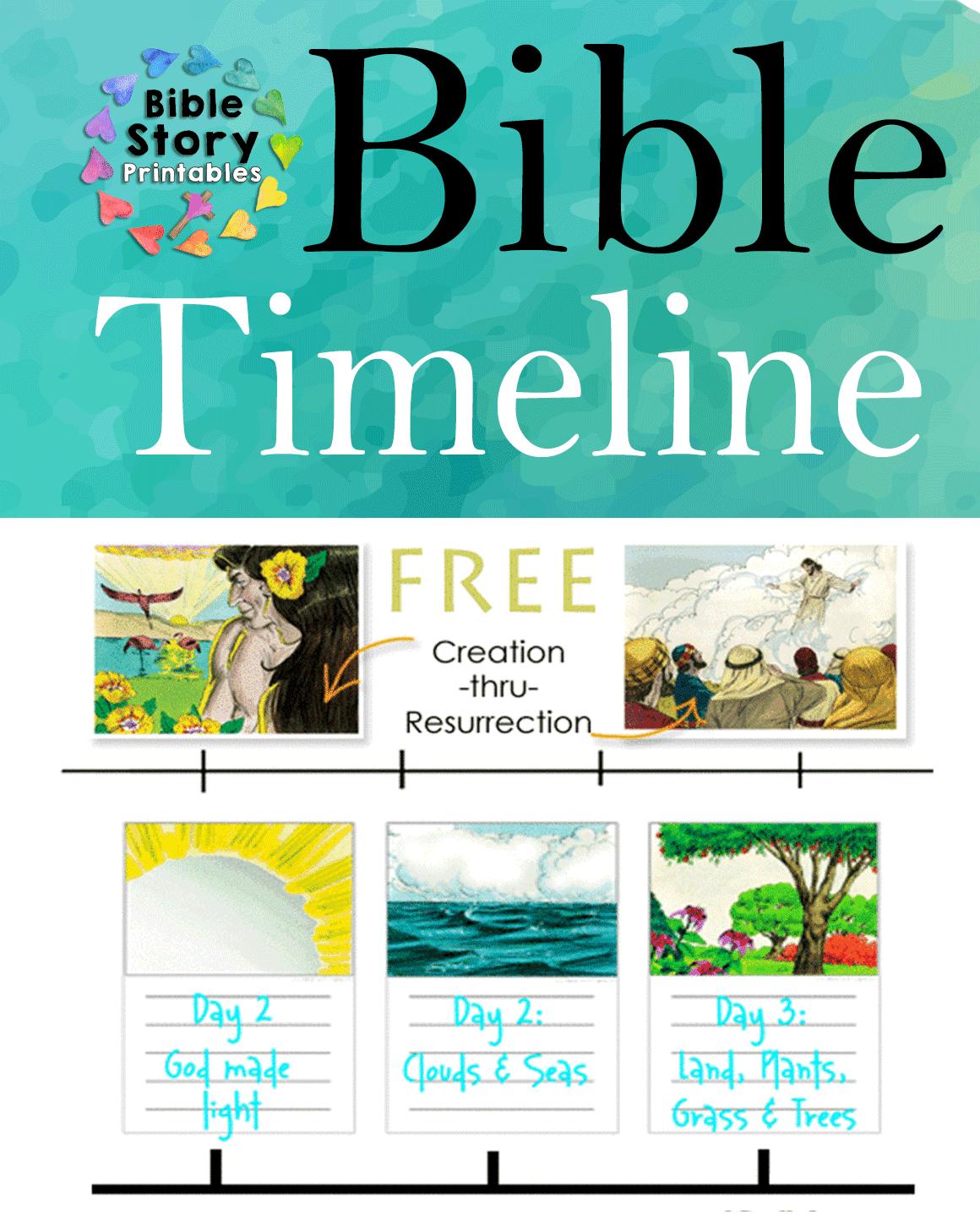 Free Printable Bible Timeline Amp 200 Cards