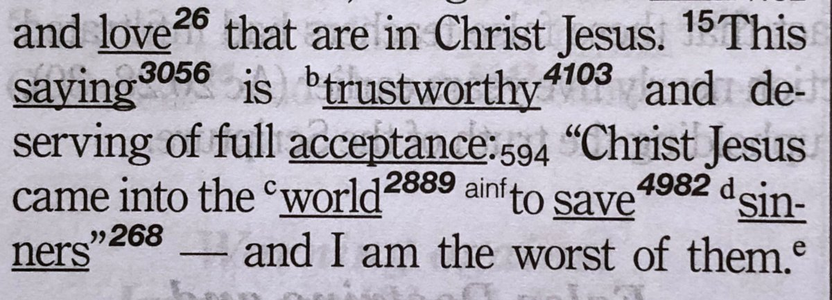 1 Timothy 1:15 in the CSB Key Word Study Bible