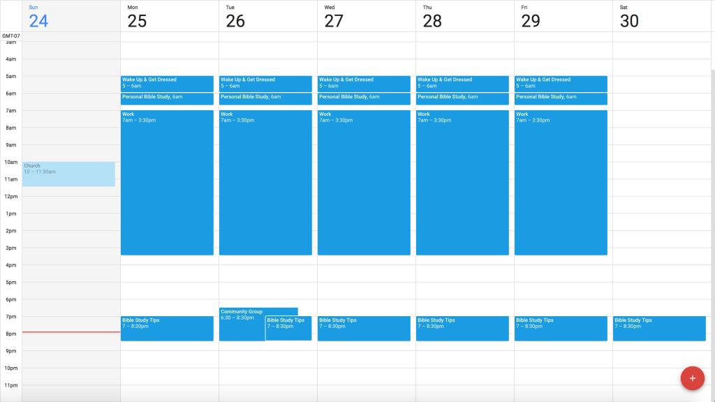 Step 1: Base Calendar