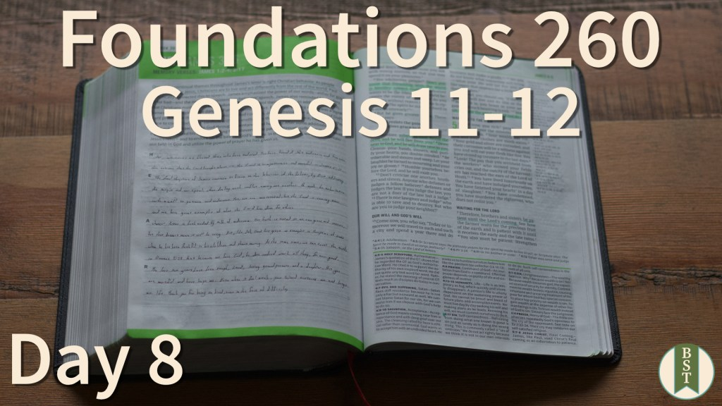 F260 Bible Reading Plan - Day 8