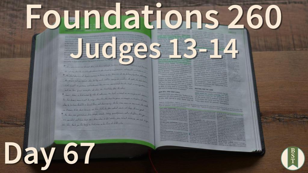 F260 Bible Reading Plan - Day 67