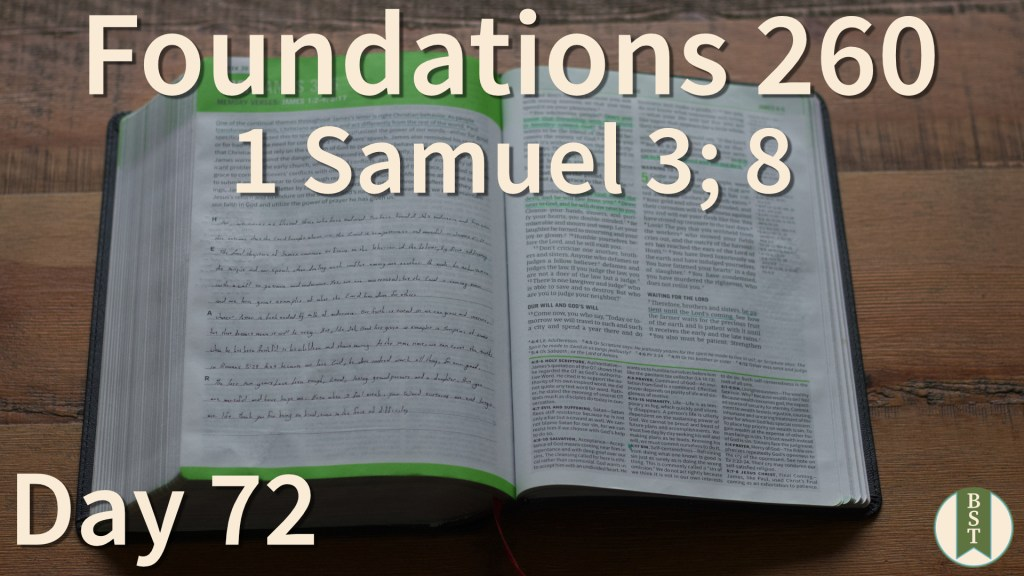 F260 Bible Reading Plan - Day 72