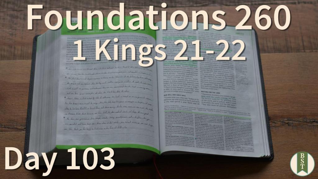 F260 Bible Reading Plan - Day 103