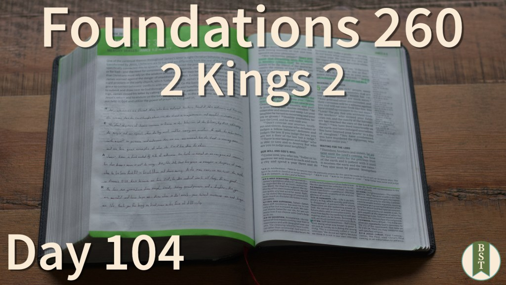 F260 Bible Reading Plan - Day 104