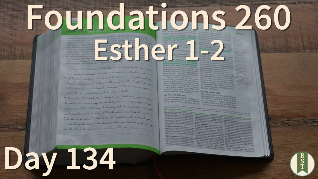 F260 Bible Reading Plan - Day 134