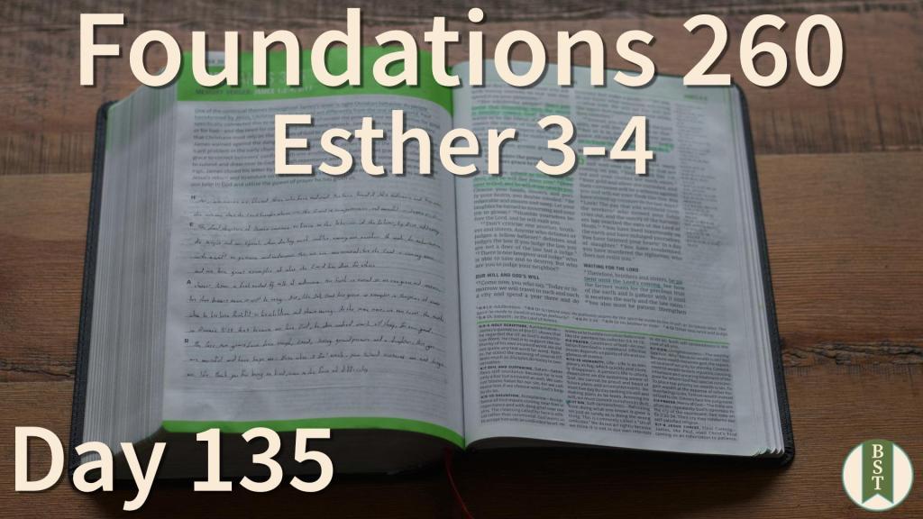F260 Bible Reading Plan - Day 135