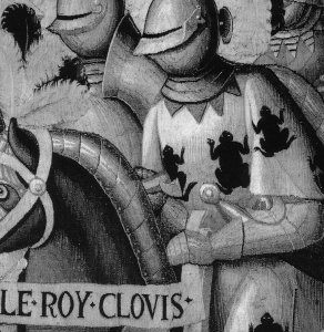clovis 3 frogs grey