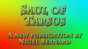 Saul of Tarsus: New Publication