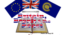 Britain, Brexit and the Beast - Perth Prophecy Day 2016 Video post