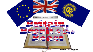 Britain, Brexit and the Beast: Christchurch NZ Prophecy Day 2016 Video post
