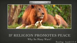 If Religion Promotes Peace - Why So Many Wars? Video Post Perth
