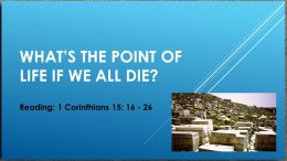 What Is the Point of Life If We All Die? Video Post