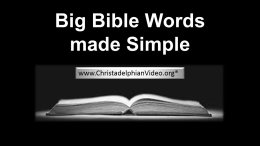 BIG Bible words made simple.