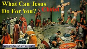 What Jesus Christ can do for you