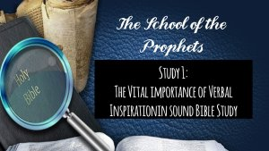 'Eyes to See and Ears to Hear' School of the Prophets 8 Videos