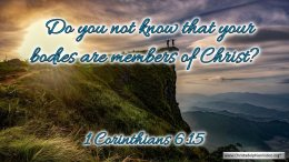 """Thought for August 25th. """"DO YOU NOT KNOW ... """""""
